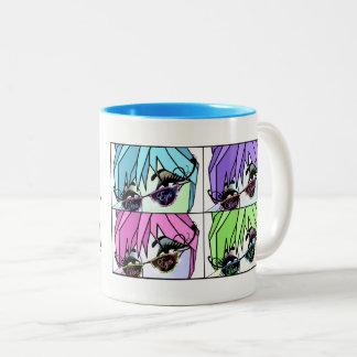 Wimper-Divas peitschen heraus! Zweifarbige Tasse