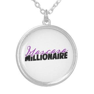 Wimperntuschen-Millionärs-Halskette Versilberte Kette