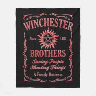 Winchester-Brüder seit 1983 (Rot) Fleecedecke