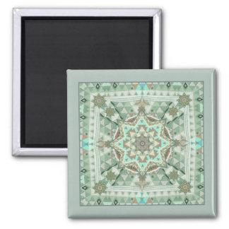 Wind-Mandala-Magnet des Dreieck-vier Quadratischer Magnet