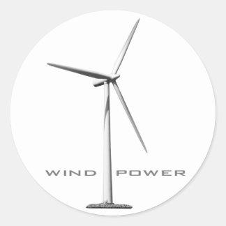 Wind-Power (Set von 6/20) Runder Aufkleber