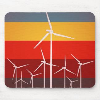 Wind-Turbine-Vintage Art Mauspad