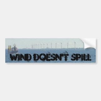 Wind wird nicht verschüttet autoaufkleber