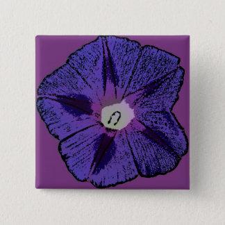 Winde abstrakt quadratischer button 5,1 cm