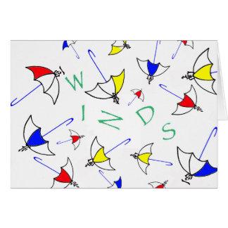 Winde Notecards Karte