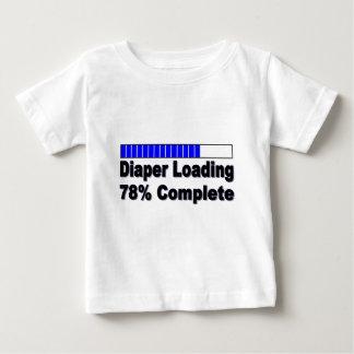 Windel, die 78% komplettes Säuglings-Shirt lädt Baby T-shirt