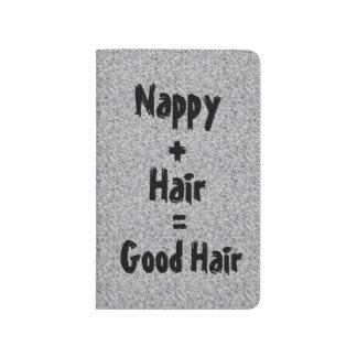 Windel ist gute Haar-Zeitschrift Taschennotizbuch