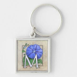 Winden-Blumen-Monogramm Schlüsselanhänger