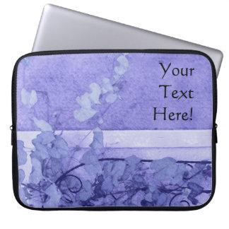 Winden-Gitter-Veilchen-Skizze Laptopschutzhülle