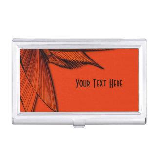 Windende orange Stern-Gewohnheit Visitenkarten Dose