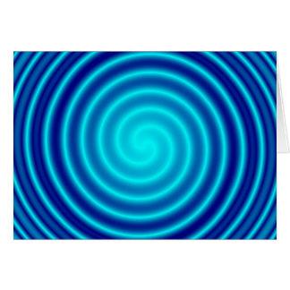 Windender blauer Schwindel Karte