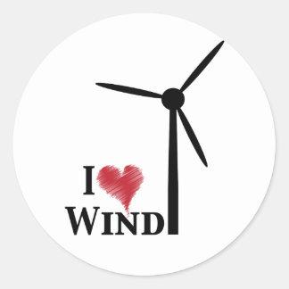 Windenergie der Liebe I Runder Aufkleber