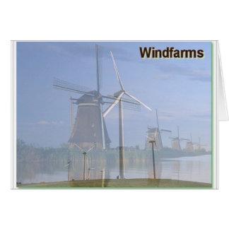 Windfarms Vergangenheit und Gegenwart Karte