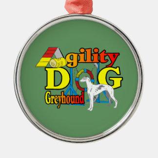 Windhund-Agility Silbernes Ornament