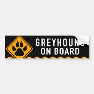 Windhund an Bord Autoaufkleber