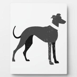 Windhund Fotoplatte
