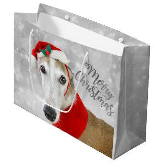 Windhund-frohe Weihnachten Große Geschenktüte