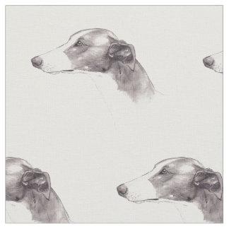 Windhund-Hundekunst-Gewebe Stoff