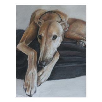 Windhund-Hundekunst-Postkarte Postkarte