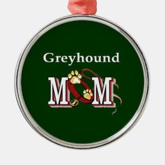Windhund-Hundemamma-Geschenke Silbernes Ornament