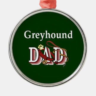 Windhund-Hundevati Silbernes Ornament