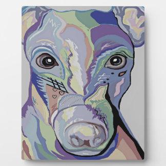 Windhund in den Denim-Farben Fotoplatte