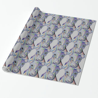 Windhund in den Denim-Farben Geschenkpapier