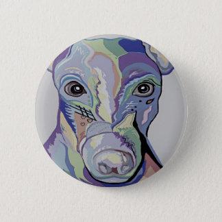Windhund in den Denim-Farben Runder Button 5,7 Cm