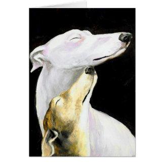 Windhund-Liebe-Hundekunst-Anmerkungs-Karte Karte