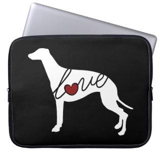Windhund-Liebe Laptopschutzhülle