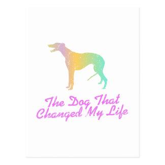 Windhund Postkarte
