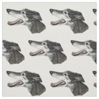 Windhund-Profil-Hundekunst-Gewebe Stoff