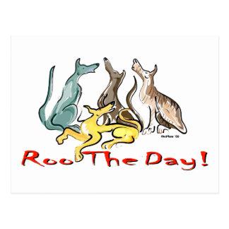 Windhund roo postkarte
