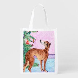 Windhund- u. Weihnachtsbaum, Wiederverwendbare Einkaufstasche