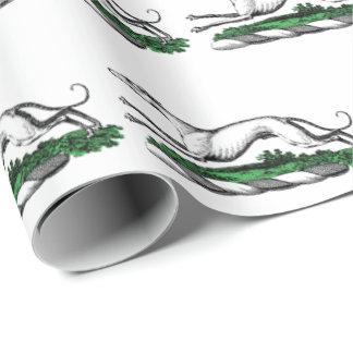 Windhund Whippet, das heraldisches Wappen-Emblem Geschenkpapier