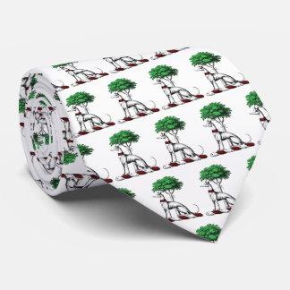 Windhund Whippet mit Baum-heraldischem Krawatte