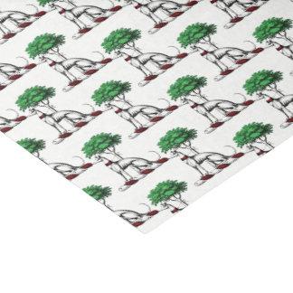 Windhund Whippet mit Baum-heraldischem Seidenpapier