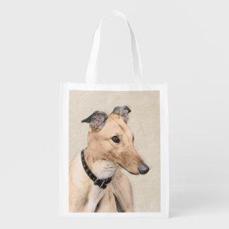 Windhund Wiederverwendbare Einkaufstasche