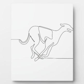 Windhundrennen-ununterbrochene Linie Fotoplatte