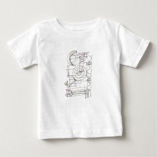 Windig-Wunderliches geometrisches abstraktes Baby T-shirt