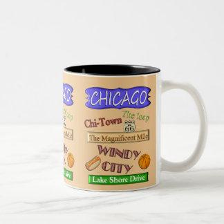 Windige Stadt Chicagos - Andenken-Tasse Zweifarbige Tasse