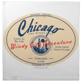 Windige Stadt Chicagos Stoffserviette