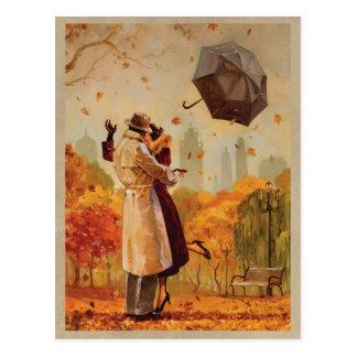 Windiger Stadt-Kuss Postkarte