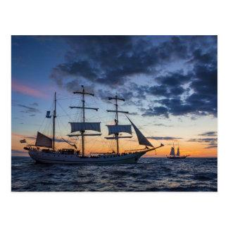 Windjammer auf der Ostsee Postkarte