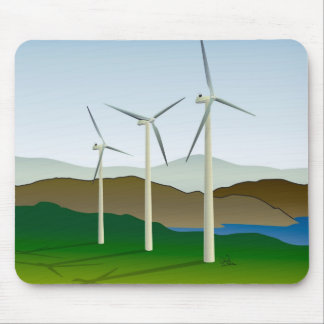 Windkraftanlage durch See Mauspads