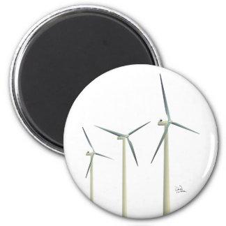 Windkraftanlage Runder Magnet 5,1 Cm
