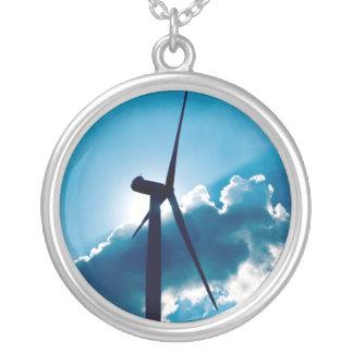 Windkraftanlage Versilberte Kette