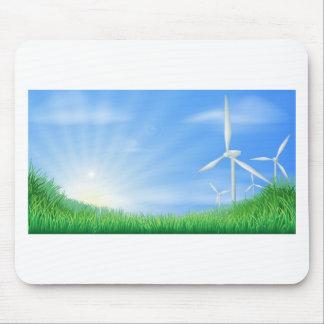 Windkraftanlagelandschaftsillustration Mousepads