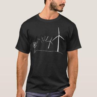 Windkraftanlagen weiß T-Shirt