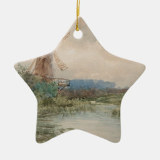 Windmühle, Holland durch Frederic Marlett Keramik Ornament